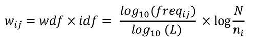 wdfidf formel